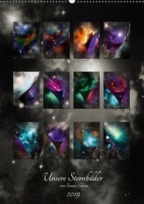 Unsere Sternbilder (Wandkalender 2019 DIN A2 hoch), Simon Glimm