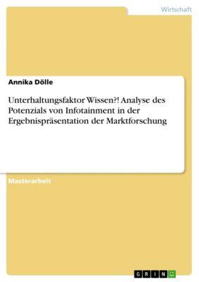 Unterhaltungsfaktor Wissen?! Analyse des Potenzials von Infotainment in der Ergebnispräsentation der Marktforschung, Annika Dölle
