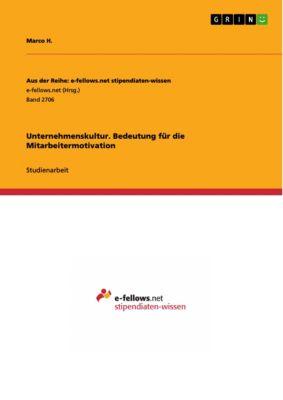 Unternehmenskultur. Bedeutung für die Mitarbeitermotivation, Marco H.
