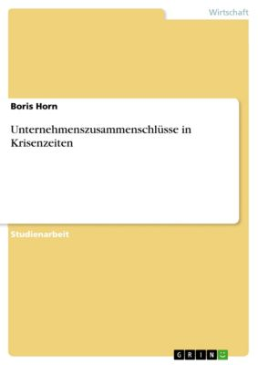 Unternehmenszusammenschlüsse in Krisenzeiten, Boris Horn