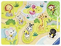 Unterwegs im Zoo 10 T.  Holzpuzzles - Produktdetailbild 1
