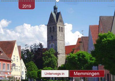 Unterwegs in Memmingen (Wandkalender 2019 DIN A2 quer), Angelika keller