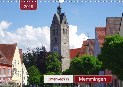 Unterwegs in Memmingen (Wandkalender 2019 DIN A3 quer), Angelika keller