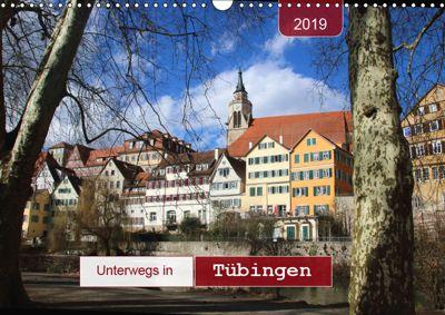 Unterwegs in Tübingen (Wandkalender 2019 DIN A3 quer), Angelika keller