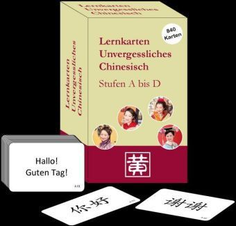 Unvergessliches Chinesisch: Stufen A bis D, Lernkarten, Hefei Huang, Dieter Ziethen