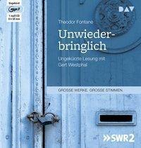 Unwiederbringlich, 1 MP3-CD, Theodor Fontane