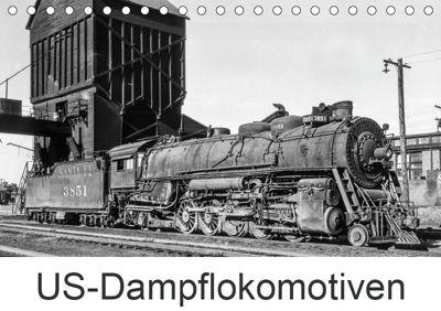 US-Dampflokomotiven (Tischkalender 2019 DIN A5 quer), Michael Schulz-Dostal