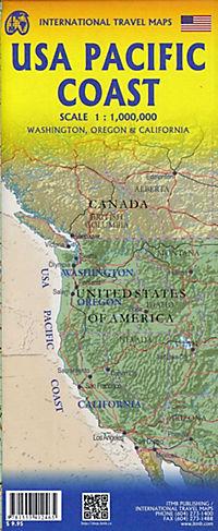 USA Pacific Coast 1 : 1 000 000 - Produktdetailbild 1