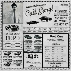 "Used Cars/Wish You Were Hair, Gary with a circle around the ""a"""