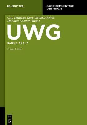 UWG Band 2. §§ 4-7 (Gesetz gegen den unlauteren Wettbewerb)