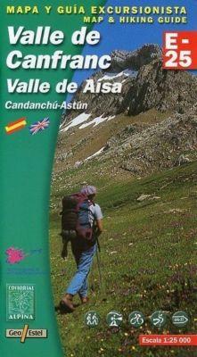 Valle de Canfranc Wanderkarte 1 : 25 000