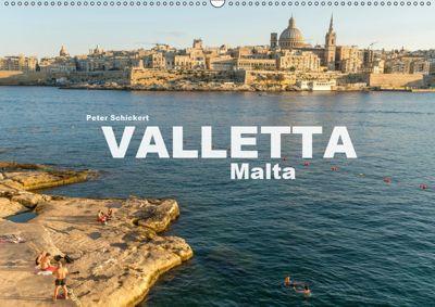 Valletta - Malta (Wandkalender 2019 DIN A2 quer), Peter Schickert