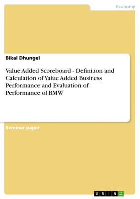 Value Added Scoreboard - Definition and Calculation of Value Added Business Performance and Evaluation of Performance of BMW, Bikal Dhungel