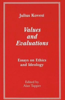 Values and Evaluations, Julius Kovesi