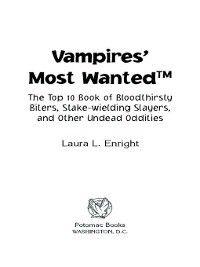 Vampires' Most Wanted, Laura N. Enright