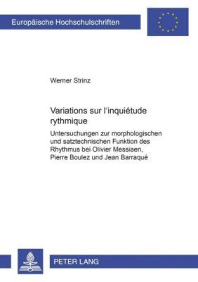 Variations sur l'inquiétude rythmique, Werner Strinz