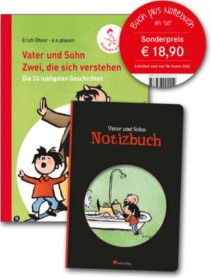 Vater und Sohn: Zwei, die sich verstehen, Buch plus Notizbuch, 2 Bde. - Erich Ohser |