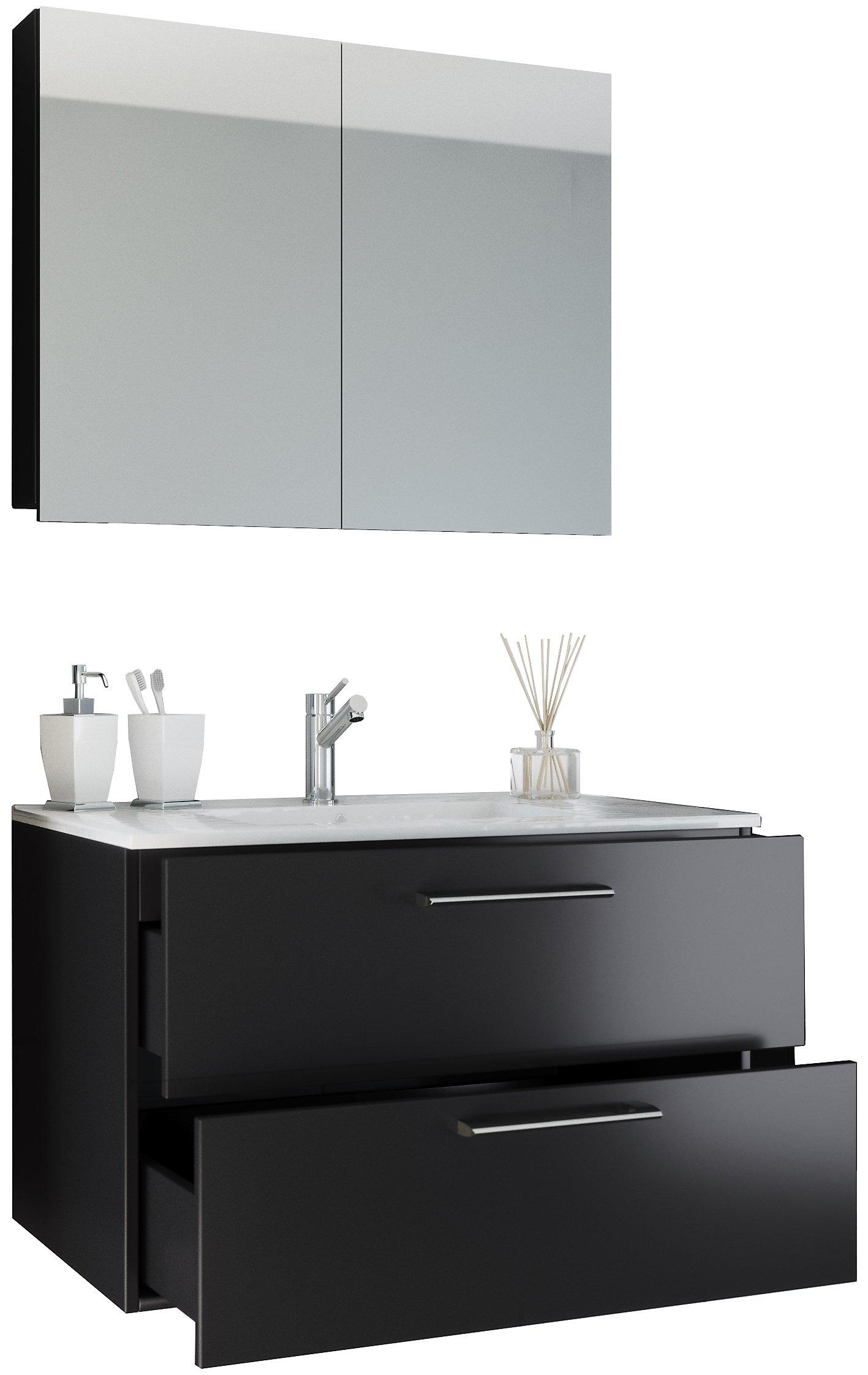 Vcm 3 Tlg Waschplatz Badmobel Badezimmer Set Waschtisch Waschbecken