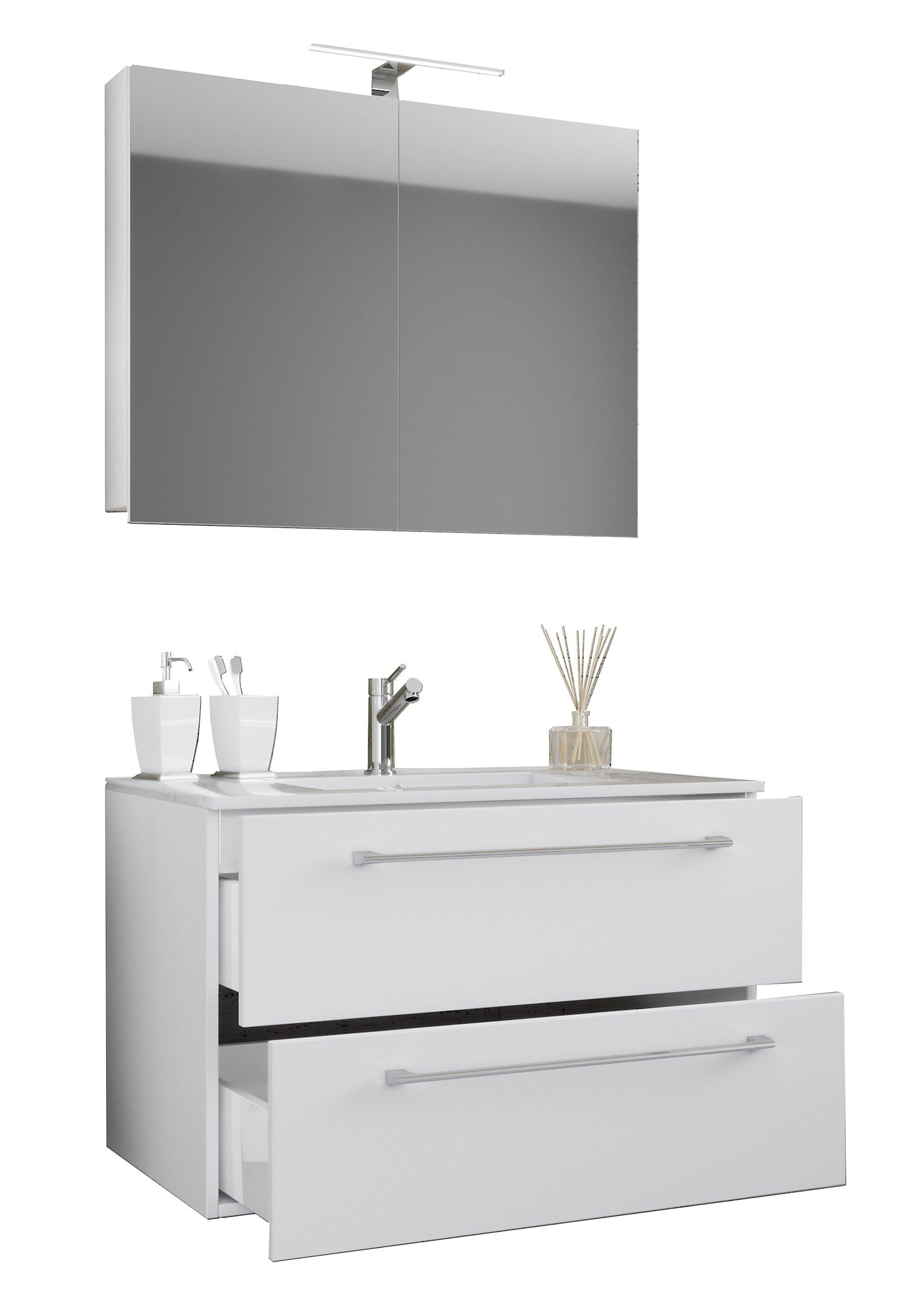 Schubladen Badezimmer | Vcm 3 Tlg Waschplatz Badmobel Badezimmer Set Waschtisch Waschbecken
