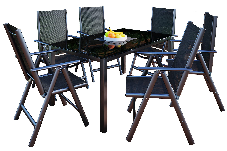 Vcm Alu Sitzgruppe 150x90 Gartenmobel Gartengarnitur Tisch