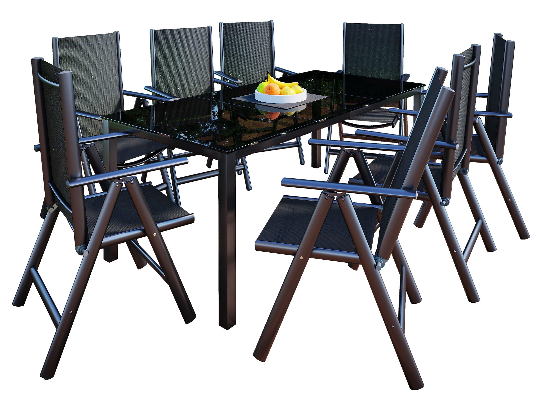 Vcm Alu Sitzgruppe 190x90 Gartenmöbel Gartengarnitur Tisch