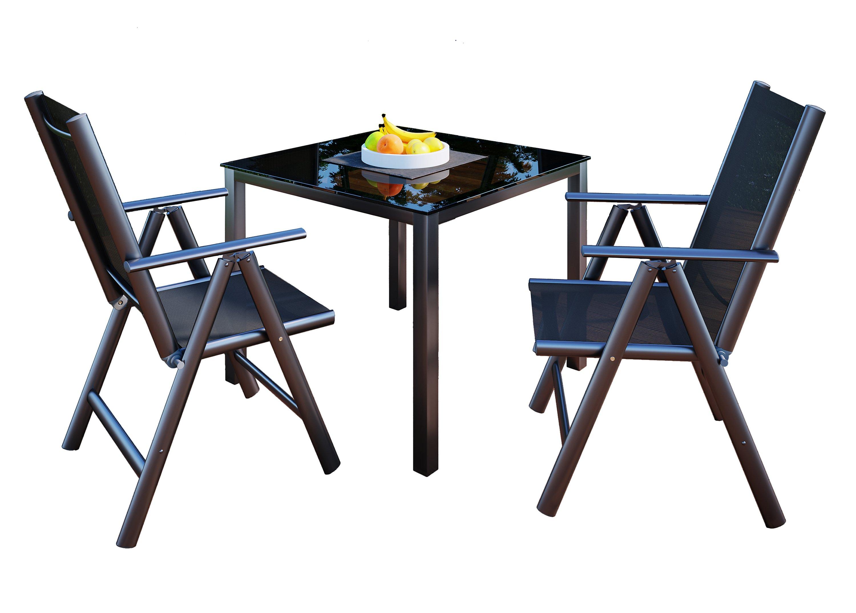 Vcm Alu Sitzgruppe 90x90 Gartenmöbel Gartengarnitur Tisch