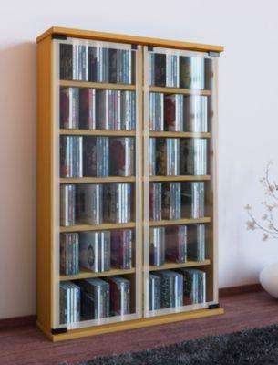 vcm cd dvd m bel galerie schrank regal farbe buche. Black Bedroom Furniture Sets. Home Design Ideas