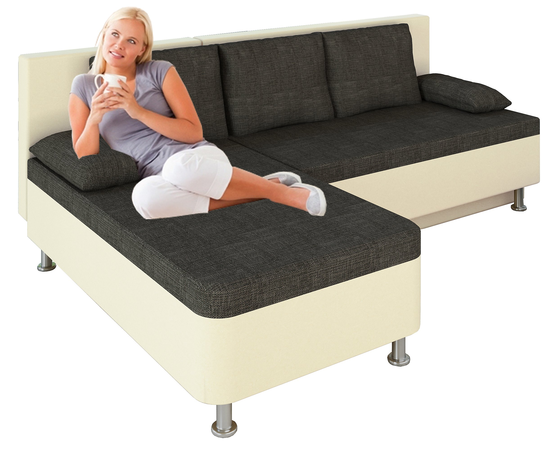 Vcm Ecksofa Bettsofa Schlafsofa Sofa Couch Mit Schlaffunktion 196 X
