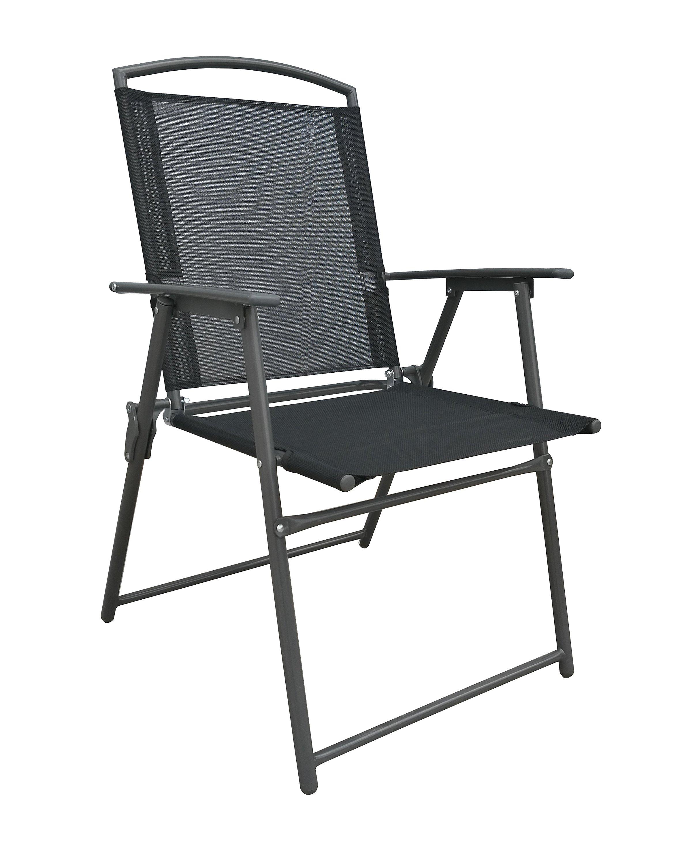 Vcm Gartenstuhl Stühle Stuhl Metall Textilene Klappbar Rücklehne