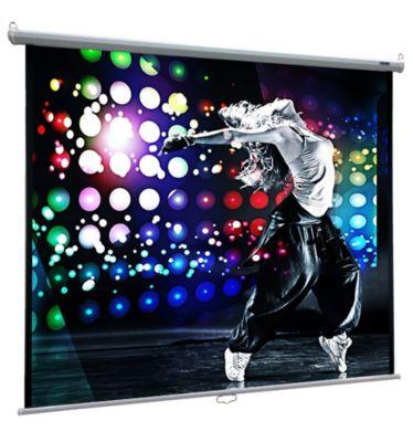 VCM Heimkino Beamer Projektor Leinwand Beamerleinwand HDTV 16:9 4:3 Rolloleinwand (Farbe: 152 x 152 cm: 215 cm / 85 Zoll)