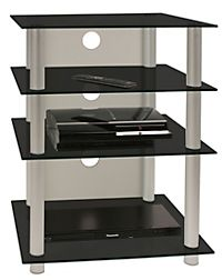 vcm hifi m bel rack phono turm medienrack medienm bel regal tisch alu glas bilus farbe klarglas. Black Bedroom Furniture Sets. Home Design Ideas