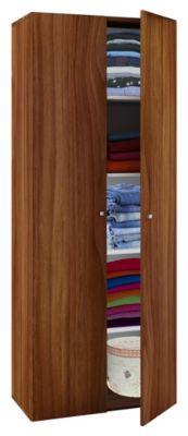 VCM Mehrzweckschrank Dielenschrank Vandol | Auswahlmöglichkeiten: +Schublade / +Aufsatz (Farbe: Höhe 178 cm: Kern-Nussbaum)