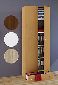 """VCM Mehrzweckschrank Dielenschrank """"Vandol""""   Auswahlmöglichkeiten: +Schublade / +Aufsatz VCM Mehrzweckschrank-Serie Vandol (Farbe: Höhe 198 cm: Buche) - Produktdetailbild 1"""