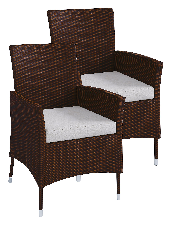 Vcm Polyrattan Stuhl Stühle Rattan Gartenstühle Sessel Gartensessel