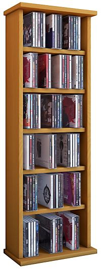 hama cd rack 60 buche archivierungssystem. Black Bedroom Furniture Sets. Home Design Ideas