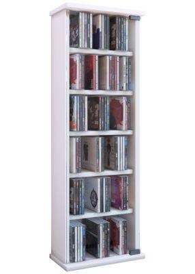 VCM Regal DVD CD Rack Medienregal Medienschrank Aufbewahrung Holzregal Standregal Möbel Bluray Möbel Vetro VCM Vetro | DVD / CD-Regal Rack Möbel (Farbe: Weiß)