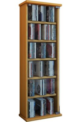 VCM Regal DVD CD Rack Medienregal Medienschrank Aufbewahrung Holzregal Standregal Möbel Bluray Möbel Vetro VCM Vetro | DVD / CD-Regal Rack Möbel (Farbe: Buche)
