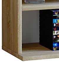 """VCM Regal Standregal Medienregal Regalwand Bücherregal CD DVD Ablage Aufbewahrung Holz Raunteiler Wandregal """"Megosa Mini"""" VCM Regal Megosa Mini (Farbe: Sonoma-Eiche (Sägerau)) - Produktdetailbild 4"""
