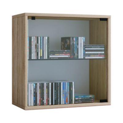VCM Regal Würfel Quadratisch Wandregal Bücher Schrank CDs Holz Aufbewahrung Quattro VCM Regal-Serie Quatto (Farbe: Premium: Sonoma-Eiche)
