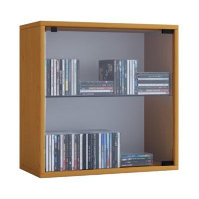 VCM Regal Würfel Quadratisch Wandregal Bücher Schrank CDs Holz Aufbewahrung Quattro VCM Regal-Serie Quatto (Farbe: Premium: Buche)