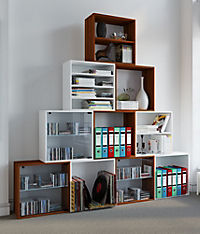 "VCM Regal Würfel Quadratisch Wandregal Bücher Schrank CDs Holz Aufbewahrung ""Quattro"" (Farbe: Premium: Weiß) - Produktdetailbild 2"