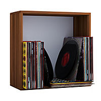 "VCM Regal Würfel Quadratisch Wandregal Bücher Schrank CDs Holz Aufbewahrung ""Quattro"" (Farbe: Comfort: Kern-Nussbaum) - Produktdetailbild 1"