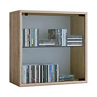 """VCM Regal Würfel Quadratisch Wandregal Bücher Schrank CDs Holz Aufbewahrung """"Quattro"""" VCM Regal-Serie Quatto (Farbe: Premium: Sonoma-Eiche) - Produktdetailbild 1"""