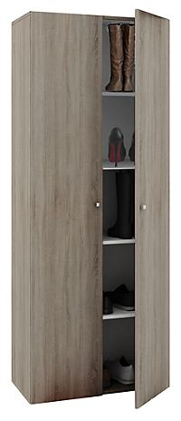 vcm staubsauger besenschrank mehrzweckschrank putzschrank vandol farbe mit t ren sonoma eiche. Black Bedroom Furniture Sets. Home Design Ideas