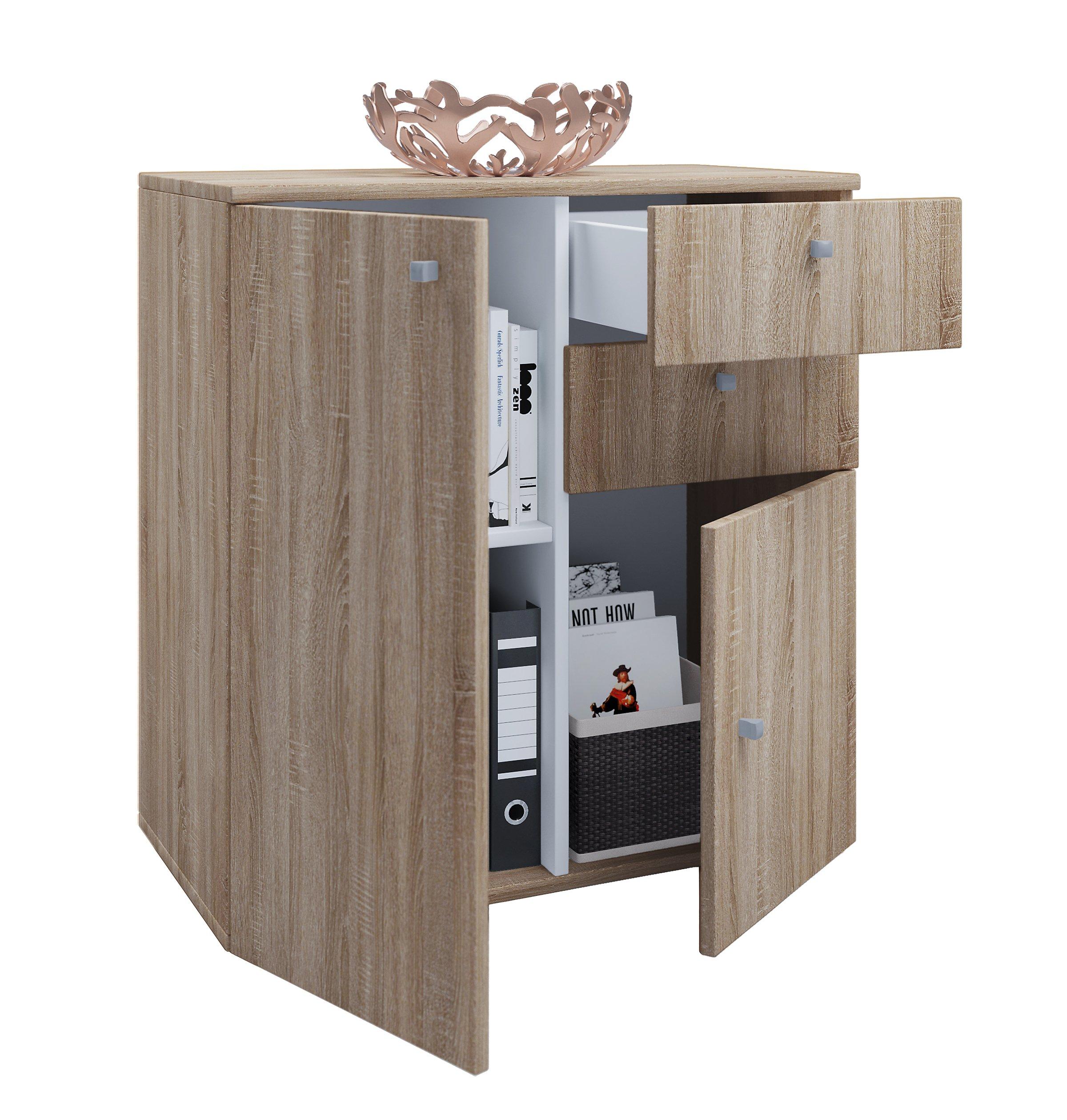 vcm sideboard kommode universal schrank regal vandol vcm schrank vandol farbe vandol v2 sonoma. Black Bedroom Furniture Sets. Home Design Ideas