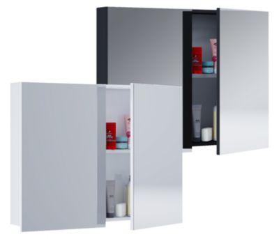 VCM Spiegelschrank Badmöbel Badezimmer Badezimmerschrank Hängeschrank Spiegel Badschrank Tenas (Farbe: Breite 60 cm: Weiß)