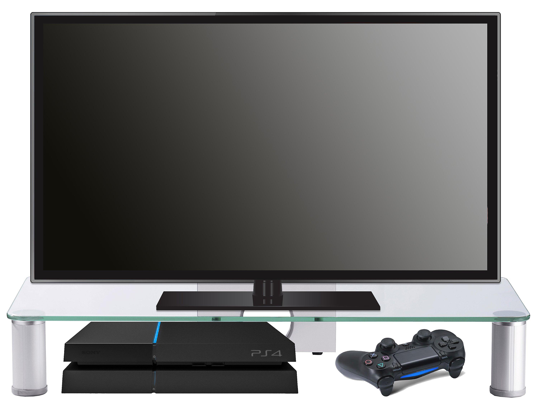 Vcm Tv Aufsatz Tv Glasaufsatz Monitor Erhöhung Fernseh Aufsatz Glas