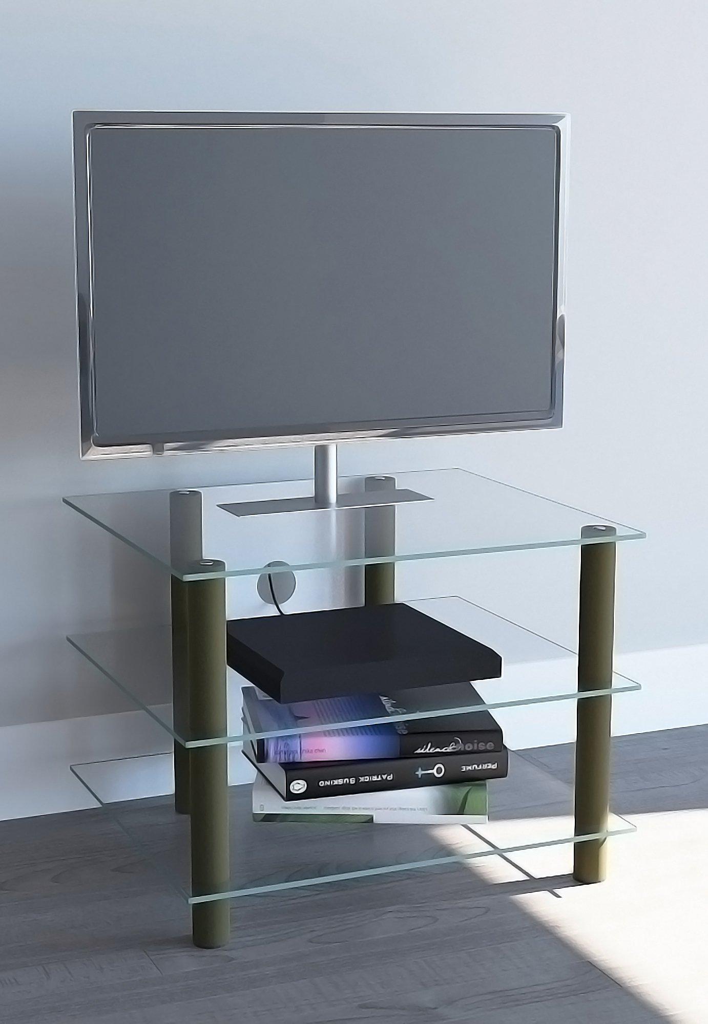 Vcm Tv Rack Lowboard Konsole Gold Farben Messing Fernsehtisch Tv