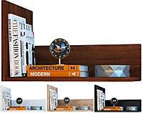 """VCM Wandregal Regal Hängeregal Wandboard Regal Hängeboard Bücherregal Holz """"Blisa"""" (Farbe: Kern-Nussbaum) - Produktdetailbild 1"""
