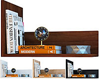 """VCM Wandregal Regal Hängeregal Wandboard Regal Hängeboard Bücherregal Holz """"Blisa"""" (Farbe: Weiß) - Produktdetailbild 1"""